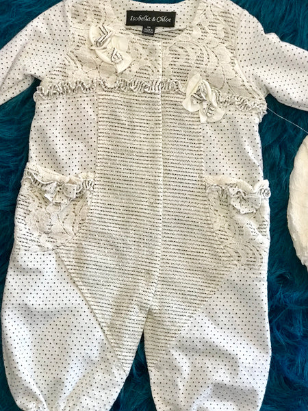 Isobella & Chloe Infant Cream Romper With Hat - JEN'S KIDS BOUTIQUE