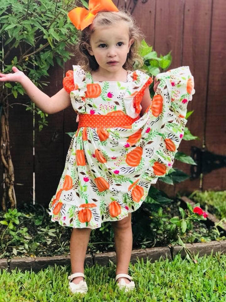 New Fall & Thanksgiving Pumpkin Dress - JEN'S KIDS BOUTIQUE