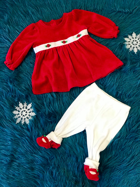 Fall Red Rose Infant Legging Set - JEN'S KIDS BOUTIQUE