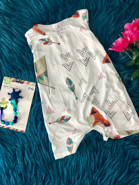 2019 Spring & Summer Boys Forest Friends Romper - JEN'S KIDS BOUTIQUE