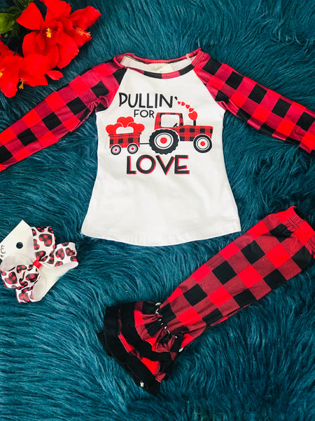 New Plaid Ruffle Leggings - JEN'S KIDS BOUTIQUE