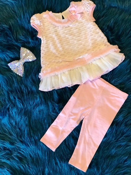 Spring Fun Adorable Pink Bubble Pant Set - JEN'S KIDS BOUTIQUE