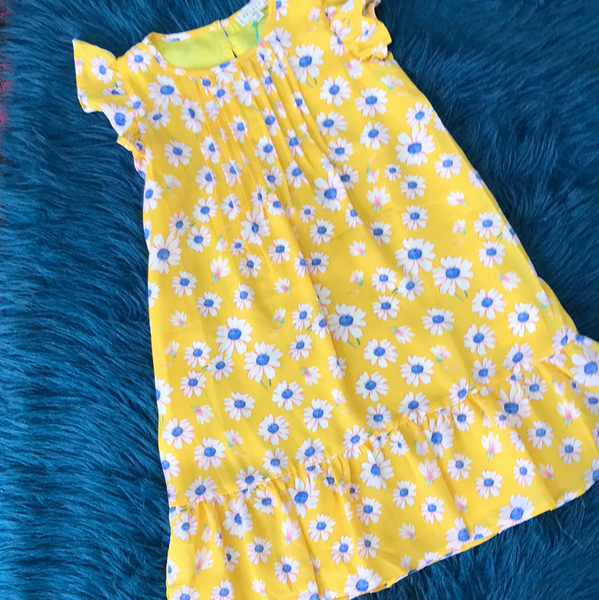 Hayden Spring Yellow Floral Dress - JEN'S KIDS BOUTIQUE