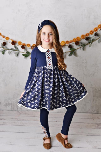 Swoon By Serendipity Fall Raleigh Picot Frock Set - JEN'S KIDS BOUTIQUE