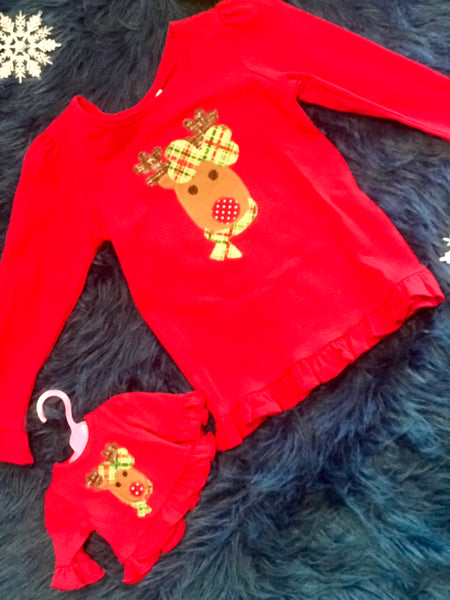 Dolly & Me Christmas Deer Shirt Set - JEN'S KIDS BOUTIQUE