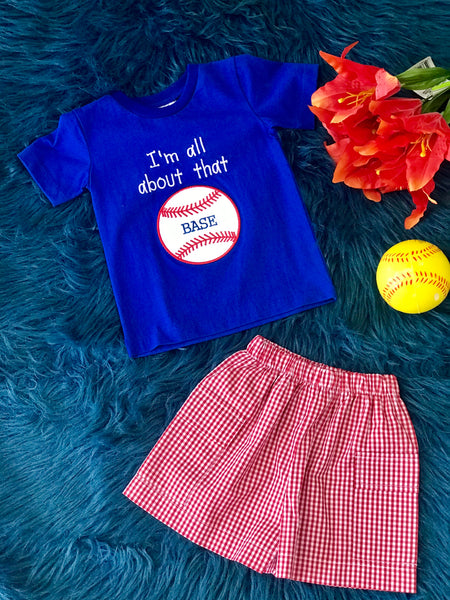 Fall Boy Three Sisters Its All About The Base Shorts Set - JEN'S KIDS BOUTIQUE