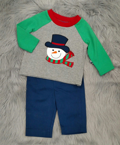 Bonnie Jean Boys Snowman Pant Set CH - JEN'S KIDS BOUTIQUE