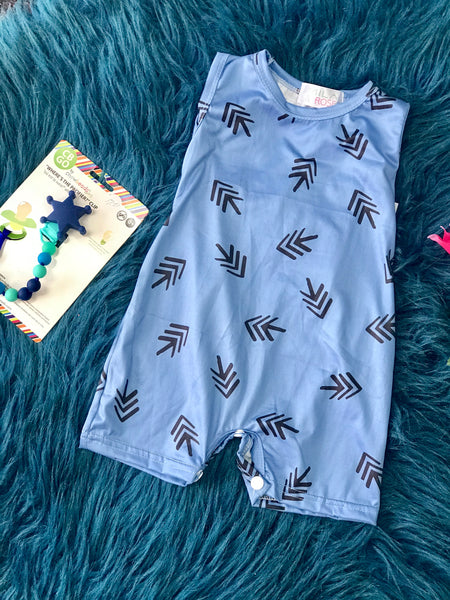 2019 Spring & Summer Boys Blue Arrow Romper - JEN'S KIDS BOUTIQUE