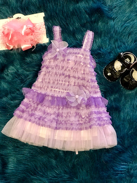 Isobella & Chloe Spring Lavender Lace Stunning Dress - JEN'S KIDS BOUTIQUE