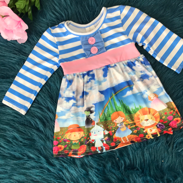 Blue & White Stripped Wizard of Oz - JEN'S KIDS BOUTIQUE