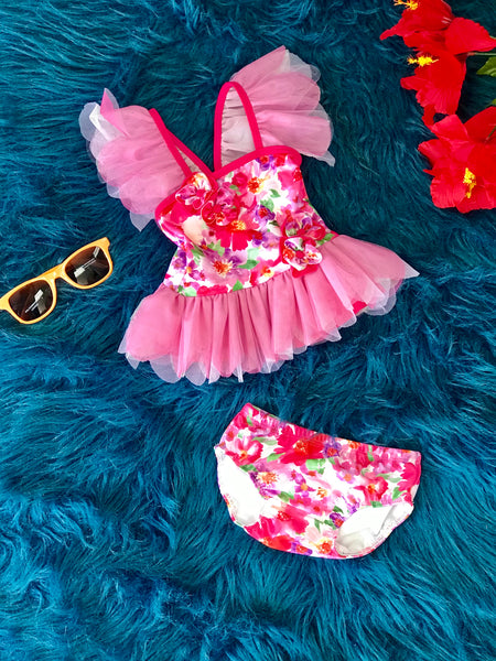 2019 Summer Isobella & Chloe Skirted Day Infant Dreamin' Tankini - JEN'S KIDS BOUTIQUE