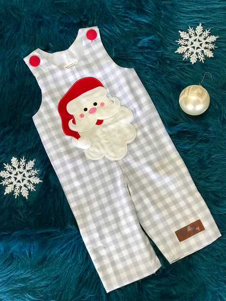 Millie Jay Christmas Santa Boys Applique Longall CH - JEN'S KIDS BOUTIQUE