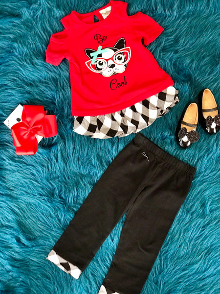 Fall Be Cool Off The Shoulder Puppy Pant Set CL - JEN'S KIDS BOUTIQUE