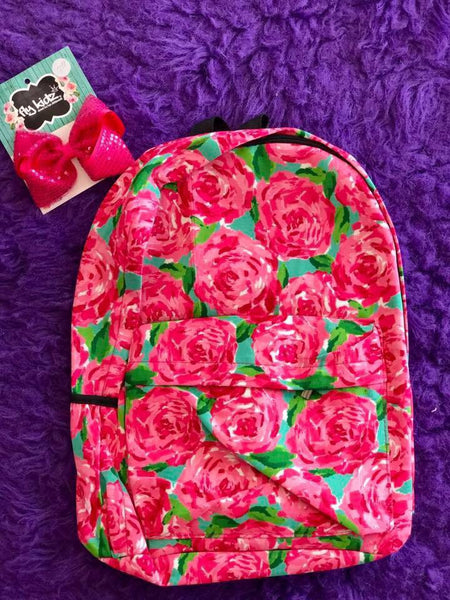 Lilly  Girls Adorable Rose Fall Backpack - JEN'S KIDS BOUTIQUE