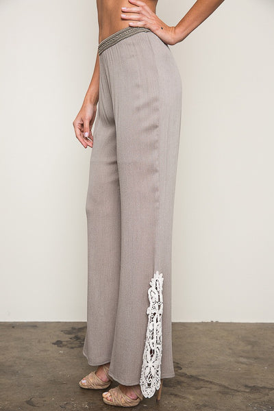 Just For Mommy Hayden Mocha Women's Lace Bell Bottoms - JEN'S KIDS BOUTIQUE