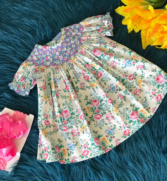Summer Millie Jay Smocked Babby Rose Dress - JEN'S KIDS BOUTIQUE