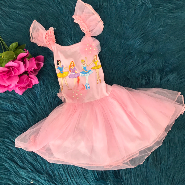 Pink Disney Princess Ballerina Dress CLS - JEN'S KIDS BOUTIQUE