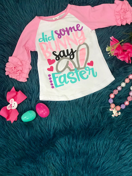 Spring Did Sume Bunny Say Easter Shirt. - JEN'S KIDS BOUTIQUE