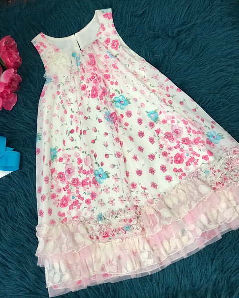 Isobella & Chloe Summer Flower Dress C - JEN'S KIDS BOUTIQUE