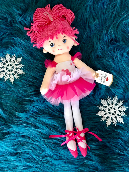 Beautiful & Sweet 17 Inch Hot Pink Ballet Doll - JEN'S KIDS BOUTIQUE