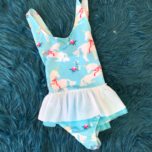 Summer Kids Baby Girls Unicorn Tutu Swimsuit