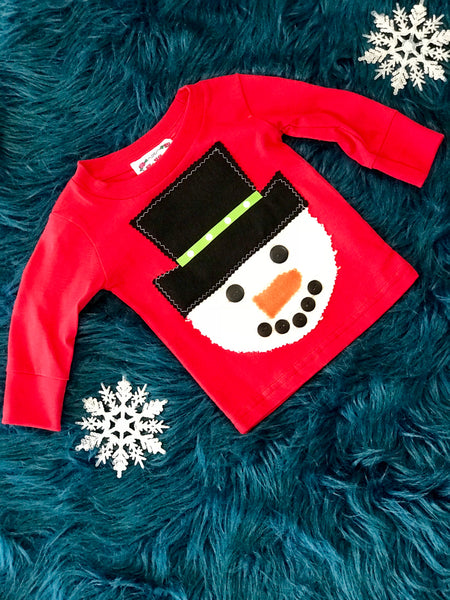 I'm Yours Button Boys Snowman Christmas Shirt - JEN'S KIDS BOUTIQUE