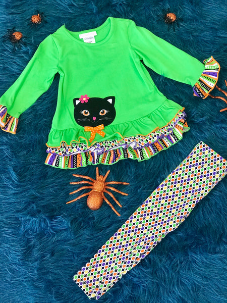 Bonnie Jean fancy cat tunic with leggings - JEN'S KIDS BOUTIQUE