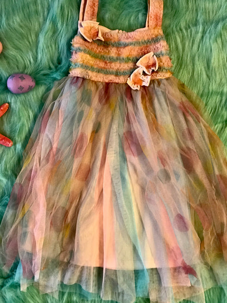 Isobella & Chloe Easter Multi Sleeveless Fancy Dress - JEN'S KIDS BOUTIQUE