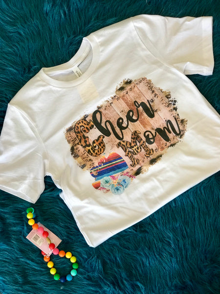 2018 Fall Fun Cheetah Print Cheer Mom T-Shirt - JEN'S KIDS BOUTIQUE