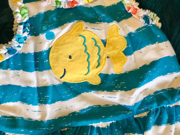 Le Top Ocean Blue Octopus Two Piece Infant Swim Set S - JEN'S KIDS BOUTIQUE