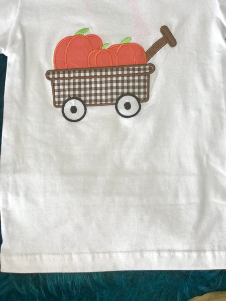 Fall Boys White With Pumpkins Shirt TH - JEN'S KIDS BOUTIQUE