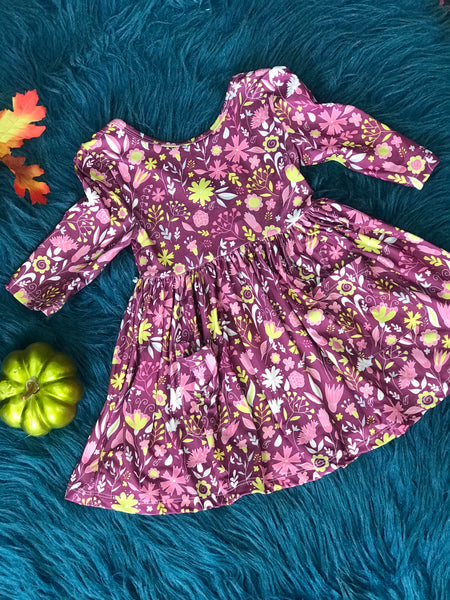 New Fall Vintage Bloom Ruffle Twirl Dress - JEN'S KIDS BOUTIQUE
