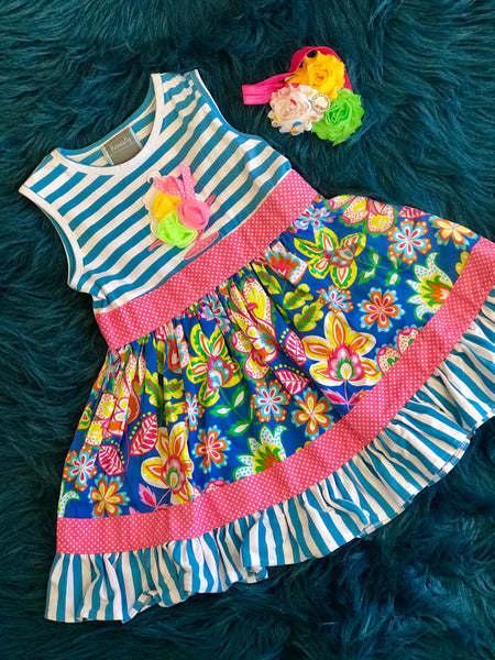 Honesty Spring Ice-Cream App Dress C - JEN'S KIDS BOUTIQUE