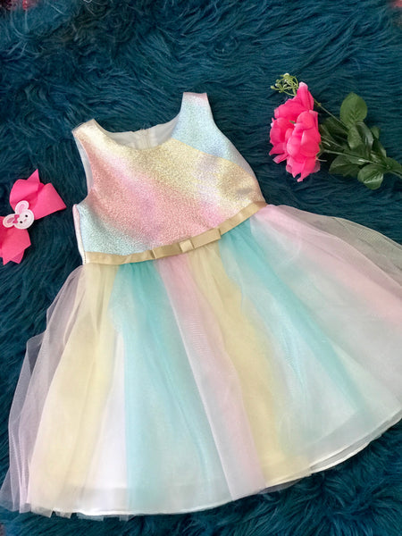 2019 Spring & Summer Easter Multi Colored Sparkle TuTu Dress - JEN'S KIDS BOUTIQUE
