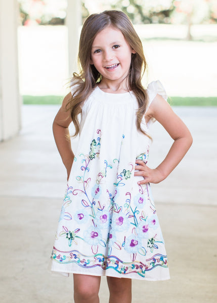2fb42efa7 2019 Spring & Summer Isobella & Chloe Santa Rosa Flower Dress - JEN'S KIDS  BOUTIQUE