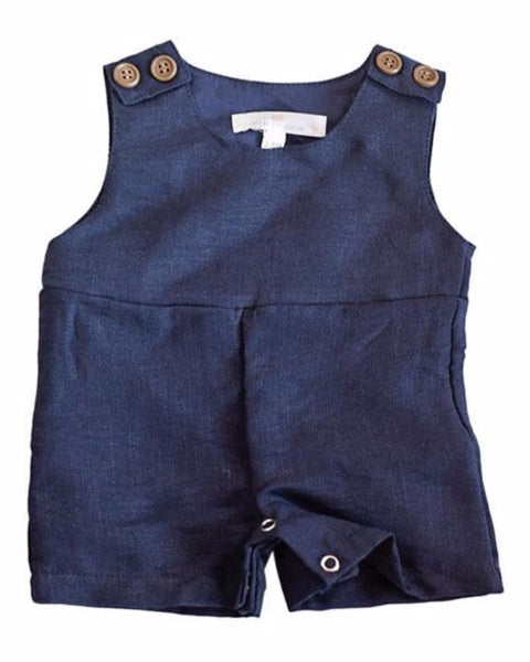 2018 Spring Dillian Jumpsuit Navy Boys Romper - JEN'S KIDS BOUTIQUE