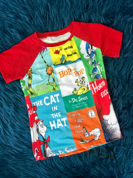 2019 Spring & Summer Dr Seuss Colorful Boys Shirt - JEN'S KIDS BOUTIQUE