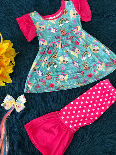 Character Fun JoJo & Puppy Fun Capri Set - JEN'S KIDS BOUTIQUE
