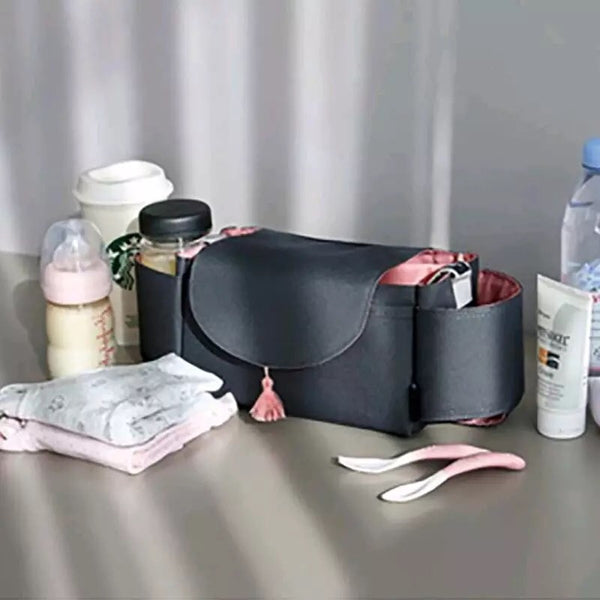 Mommy Multi Large Capacity Stroller Organizer & Diaper Bag Gray - JEN'S KIDS BOUTIQUE