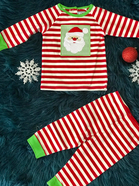 2018 Christmas Boys Santa Applique Knit Two Piece Knit Suit - JEN'S KIDS BOUTIQUE
