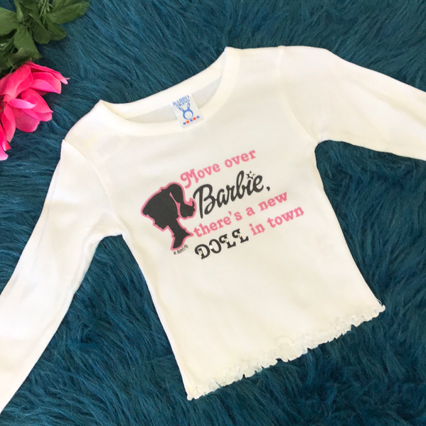 Rabbit Skins Move over Barbie Long Sleeve Shirt - JEN'S KIDS BOUTIQUE