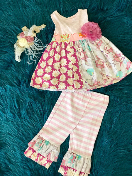 Haute Baby Summer Lilac Birdie Bloom Tunic Set - JEN'S KIDS BOUTIQUE