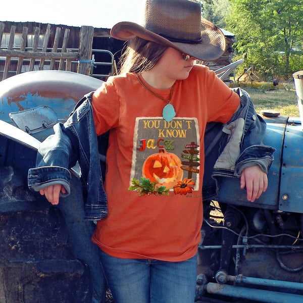 Fall You Don't Know Jack On Burnt Orange - JEN'S KIDS BOUTIQUE