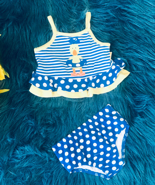 La Top All About The Duck Two Piece Infant Swim Suit S - JEN'S KIDS BOUTIQUE