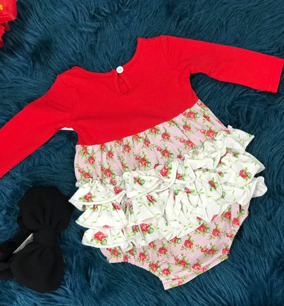 New Valentines Swoon By Serendipity Dainty Ruffle Bubble C - JEN'S KIDS BOUTIQUE