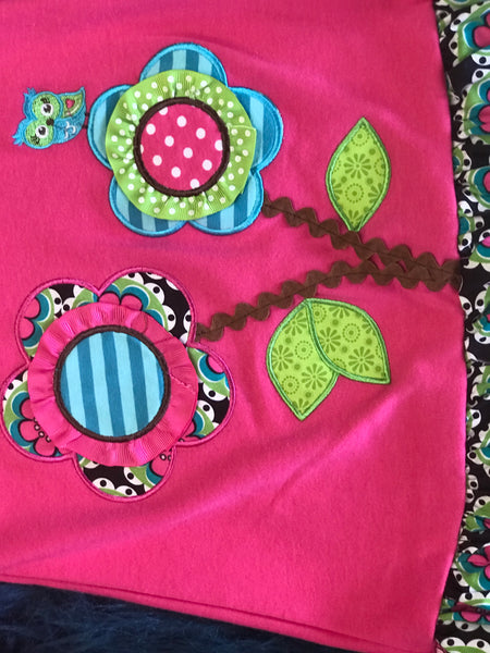Stunning Hot Pink & Aqua Flower Pant Set - JEN'S KIDS BOUTIQUE