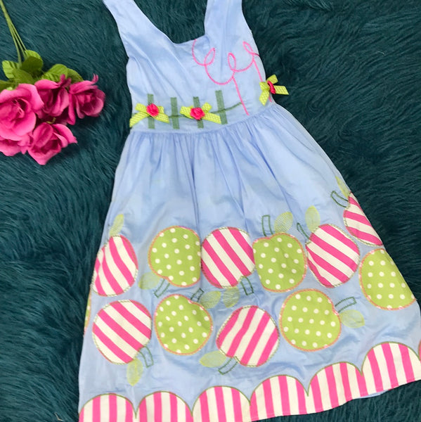 Light Blue Apple Dress