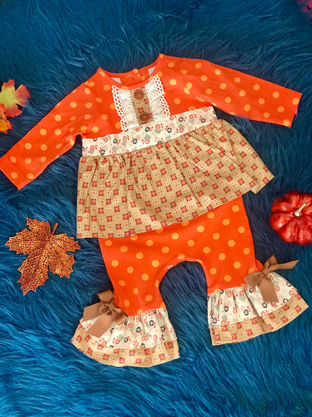 Molly & Millie By Peaches N Cream Harvest Infant Romper - JEN'S KIDS BOUTIQUE