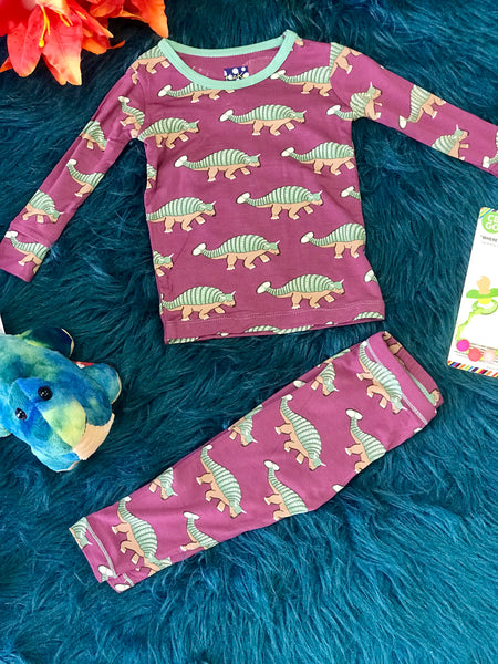 New Fall Kickee Pants Print Long Sleeve  Pajamas Set (Euoplocephalus) - JEN'S KIDS BOUTIQUE