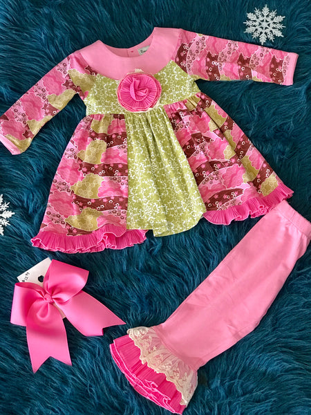 2018 Fall Sassy Me Magic Garden Pant Set - JEN'S KIDS BOUTIQUE